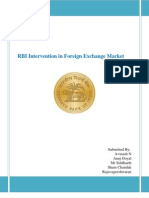 RBI Intervention in Foreign Exchange Market