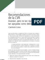 Recomendaciones de La CVR