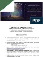 """Concorso di Poesia inedita """"Montepagano"""" - regolamento e scheda di partecipazione"""