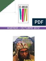 AGENDA – OCTUBRE 2012