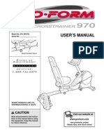 Proform Crosstrainer 970 User's Manual