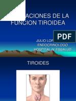 Alteraciones de La Funcion Tiroidea