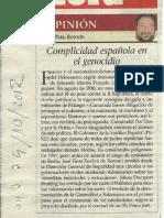 Complicidad española en el genocidio