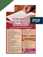 III Diplomado en Derecho Registral y de Contratos