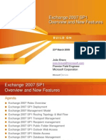 Slides - Exchange 2007 SP1 Overview and New Features