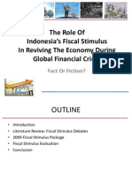 Presentasi Paper Fiscal Stimulus IRSA Padang, 21 July 2011