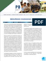 Seguridad Ciudadana en Bolivia - Boletin CEPB - Marzo 2012