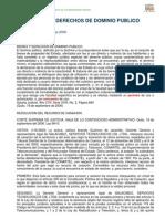 Sentencia sobre bienes y derechos de dominio público y sus formas de explotación por los particulares