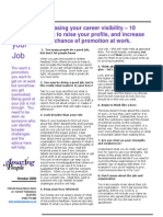 Ten Steps to Raise Your Profile