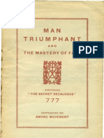 AMORC - Man Triumphant and the Mastery of Fate (1923)