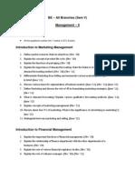 Q.bank Sem-V ManagementII