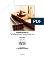 Research Study on Torts and Damages and Transportation 2012 - FINAL