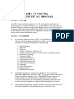 Tax Incentive Program