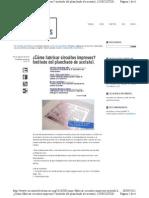 Como Fabricar Circuitos Impresos Metodo Acetato