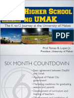 The K-12 Journey at the University of Makati