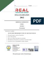 Add Maths Form 4 Paper 1 2012 2