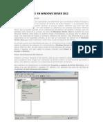 Crear Un Bosque en Windows Server 2012