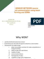 WIRELESS SENSOR NETWORK-Localization , Communication Using Beam Forming