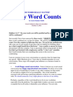 Every Word Counts -  Public Speaking for Christians