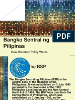 BSP and Monetary Policy
