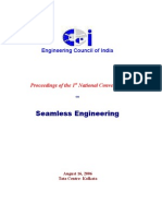 Prabir Datta_talks on Seamless Engineering_in_the National Convention of Engineering Council of India_kolkata