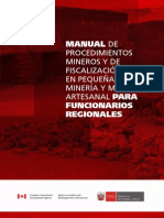 Manual Fiscalizacion Funcionarios pequeña mineria en peru