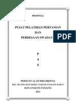 Kerangka Usulan Proposal Pusat Pelatihan Pertanian Dan Pedesaan Swadaya p4s Permato Alam Serambi Pendahuluhan