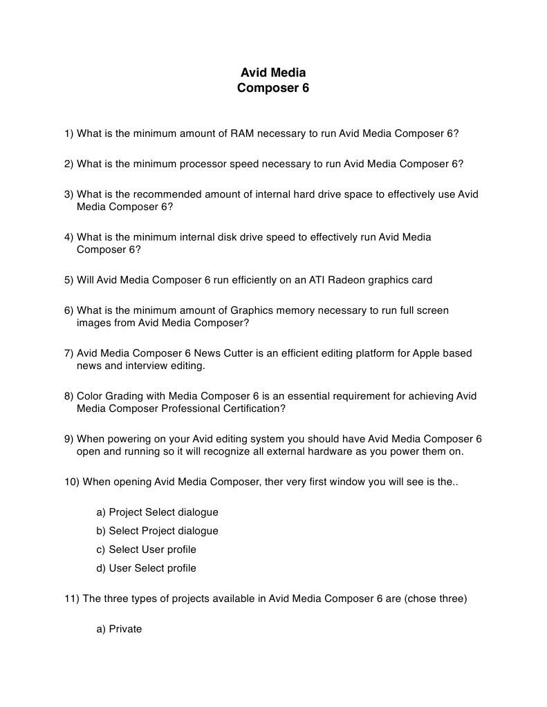 Final Cut Coach Mc 6 Mid Term Exam Questions Computer Keyboard