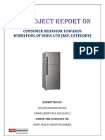 Project Report on Consumer Behaviour123