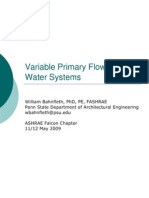 Variable Primary Flow Chilled Water Systems - ASHRAE