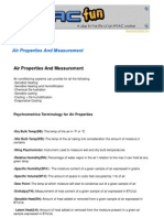 R Air Properties and Measurement