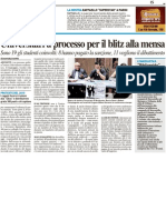 Universitari a processo per il blitz alla mensa - Il Resto del Carlino del 9 ottobre 2012