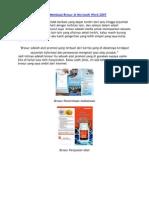 Cara Membuat Brosur Di Microsoft Word 2007