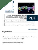 II_1. Respiração - Razões ADP_O e controlo respiratorio