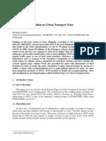 EUROCITIES' Position on Urban Transport Noise