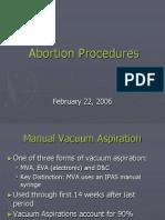 Abortion Procedures