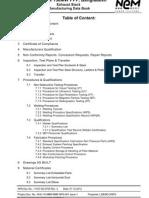 11537-00-0705 R0 Manufacturing Data Book