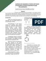 Recrystallization of Acetanilide