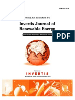 Invertis Journal of Renewable Energy Vol 2 No 1