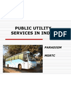 Msrtc public utility | Transport | Industries