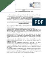 Ordin Structura an Scolar 2012 2013 Modificat