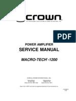 MA1200 - Service Manual