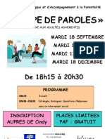 Affiche 3 Groupe de Paroles 2012