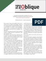 La rassegna stampa di Oblique, settembre 2012