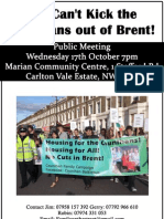 Public Meeting You can't kick the Counihans out of Brent! Kilburn 17th Oct