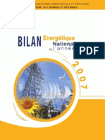 Bilan Energetique National 2007