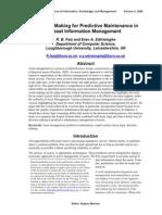 Decision Making for Predictive Maintenance in Asset Information Management IJIKMv4p023-036Faiz422