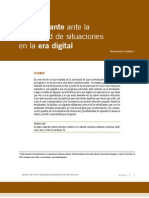 El Estudiante Ante La Diversidad de Situaciones en La Era Digital