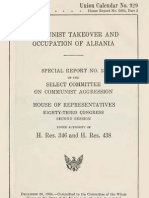Communist Takeover and Occupation of Albania - Charles J. Kersten; U.S. Congress (1954)