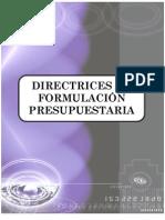 Directrices Formulacion Presupuestaria, Bolivia 2013